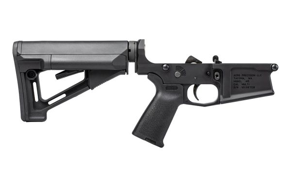 M5 (.308) Complete Lower Receiver w/ Magpul MOE & STR - Anodized Black
